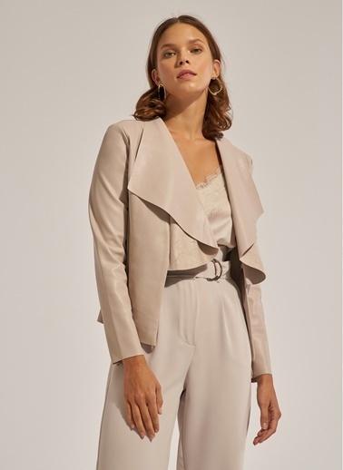 Monamoda Dantelli Saten Askılı Bluz Taş